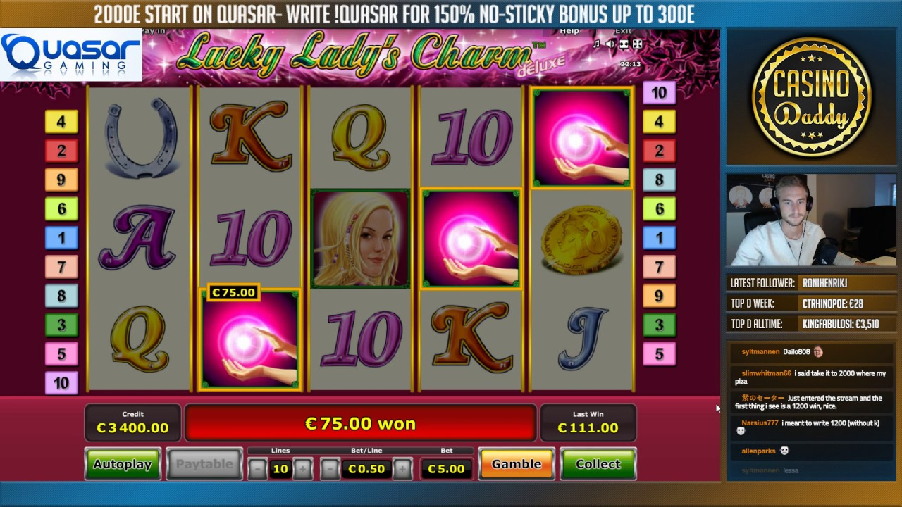 online casino no deposit lucky charm book