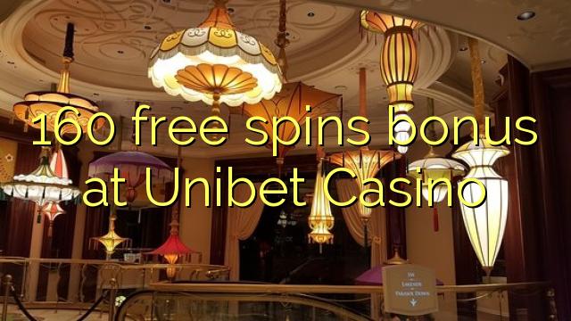 160 free spins ajeseku ni Unibet Casino