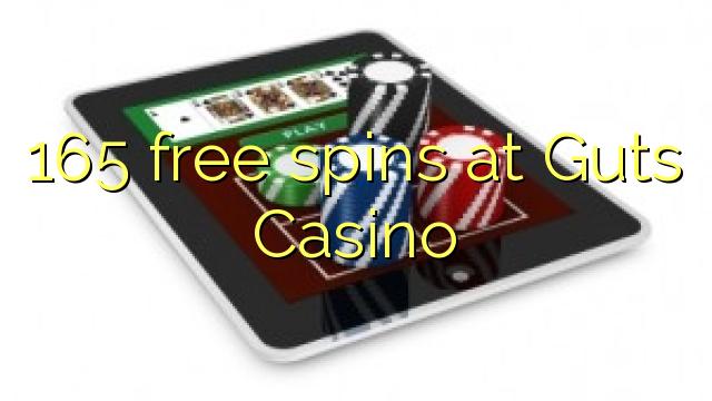 165 free spins at Guts Casino