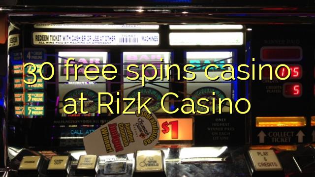 30 zdarma točí kasino na Rizk kasinu