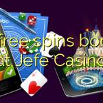 35 free spins bonus at Jefe Casino