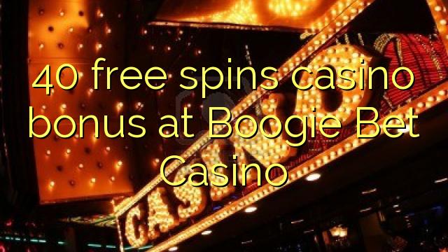40 bébas spins bonus kasino di Boogie Ujang Kasino