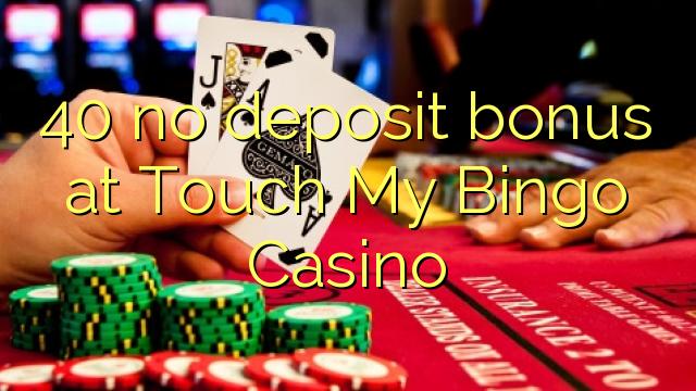 40 no deposit bonus at Touch My Bingo Casino