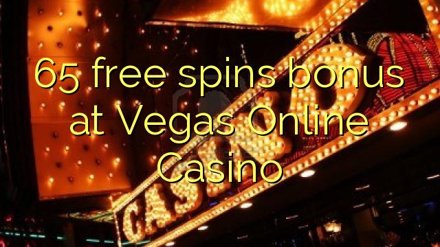 Vegas Online Casinoで65の無料スピンボーナス