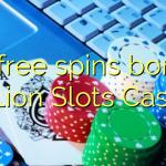 70 free spins bonus at Lion Slots Casino