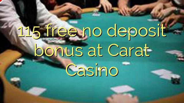 carat casino no deposit bonus