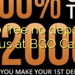 120 free no deposit bonus at BGO Casino