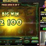 Casino slot Jade Magician paying 100x :D