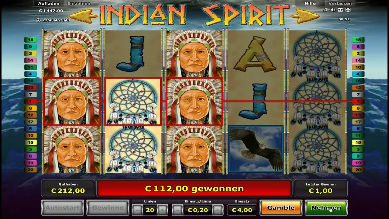 top online casino indian spirit