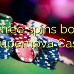 160 free spins bonus at Supernova Casino