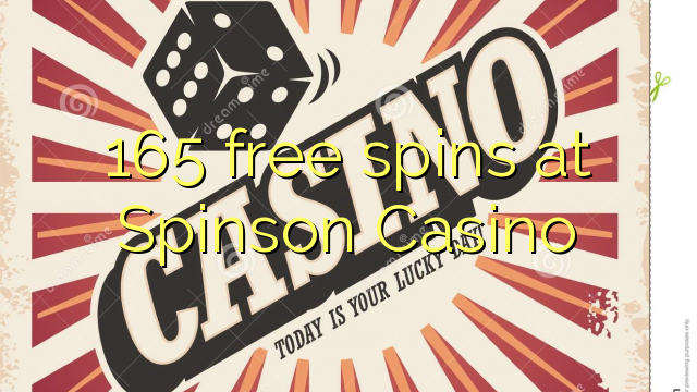 Spinson Casino 165 pulsuz spins