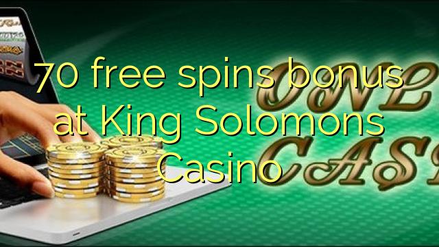 70 pulsuz King Solomons Casino bonus spins