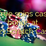 70 free spins casino bonus at CrazyScratch Casino