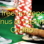 85 free no deposit bonus at Cashmio Casino