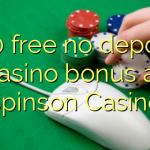 100 free no deposit casino bonus at Spinson Casino