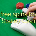 125 free spins bonus at Stake7 Casino
