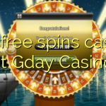 135 free spins casino at Gday Casino