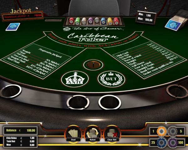 Kariibi pokkeri ekraanipilt