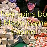 145 free spins bonus at Moon Games Casino