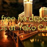25 free no deposit bonus at Yako Casino