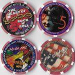 4 $5 Casino Chip schedule-badly convulse CASINO-Las Vegas, Nevada-schedule 3-Hrt. Of convulse Roll