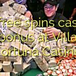 40 free spins casino bonus at Villa Fortuna Casino