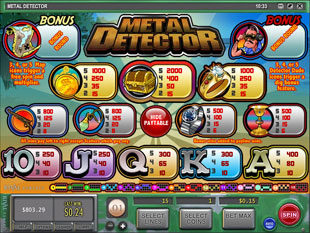 Free Simbolo mini slot per rivelatori del metallo