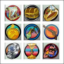 Simboluri gratuite de joc pentru detectorul de metale