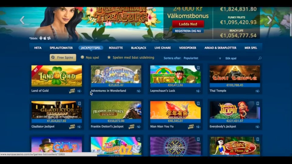 europa casino online on9 games