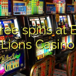 75 free spins at Blue Lions Casino
