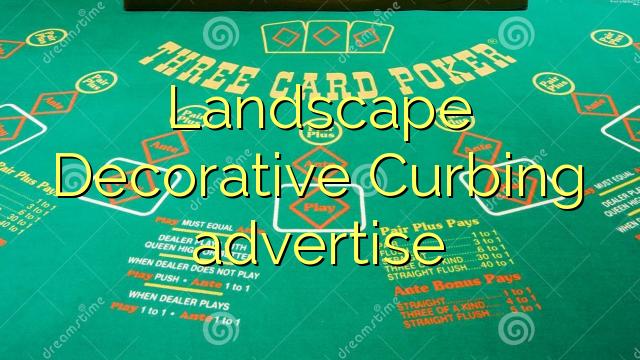 Krajinsko dekorativno omejevanje oglaševanja