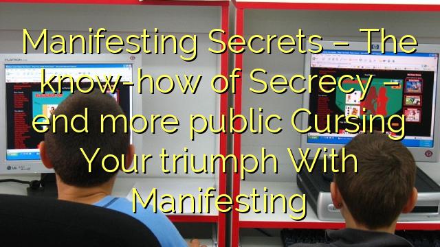 Sırları Belirtme - Gizliliğin bilgisi - daha fazla kamuya Açıklama Zafere Katılma ile Lüfrederek