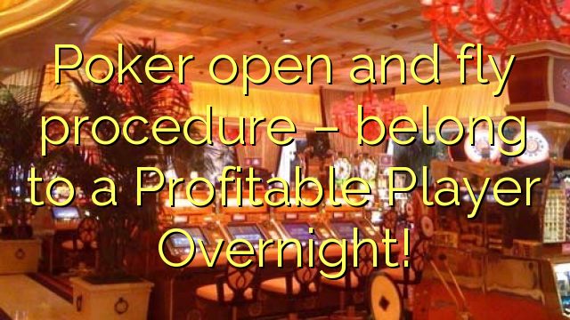 पोकर खुली और मक्खी की प्रक्रिया - एक लाभदायक खिलाड़ी रात भर से संबंधित हैं!
