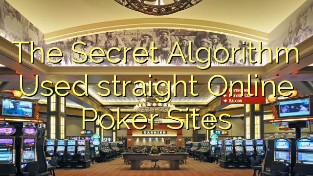 真のオンラインポーカーサイトで使用された秘密アルゴリズム