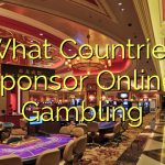 What Countries sponsor Online Gambling