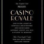 """Casino Royale"" Invitation away Kristy Kapturowski   Greenvelope.com. &q…"