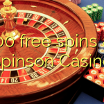 100 free spins at Spinson Casino