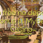 150 free no deposit bonus at MyBet Casino