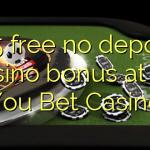 165 free no deposit casino bonus at All You Bet Casino
