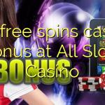 175 free spins casino bonus at All Slots Casino