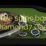 25 free spins bonus at Diamond7 Casino