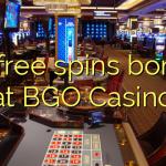 35 free spins bonus at BGO Casino