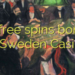 70 free spins bonus at Sweden Casino