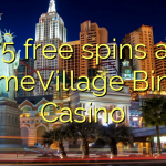 75 free spins at GameVillage Bingo Casino