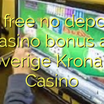 95 free no deposit casino bonus at Sverige Kronan Casino