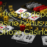 130 free no deposit casino bonus at Dhoze Casino