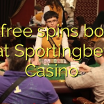 175 free spins bonus at Sportingbet Casino