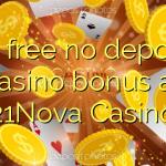 60 free no deposit casino bonus at 21Nova Casino