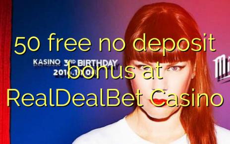 50 libirari ùn Bonus accontu à RealDealBet Casino