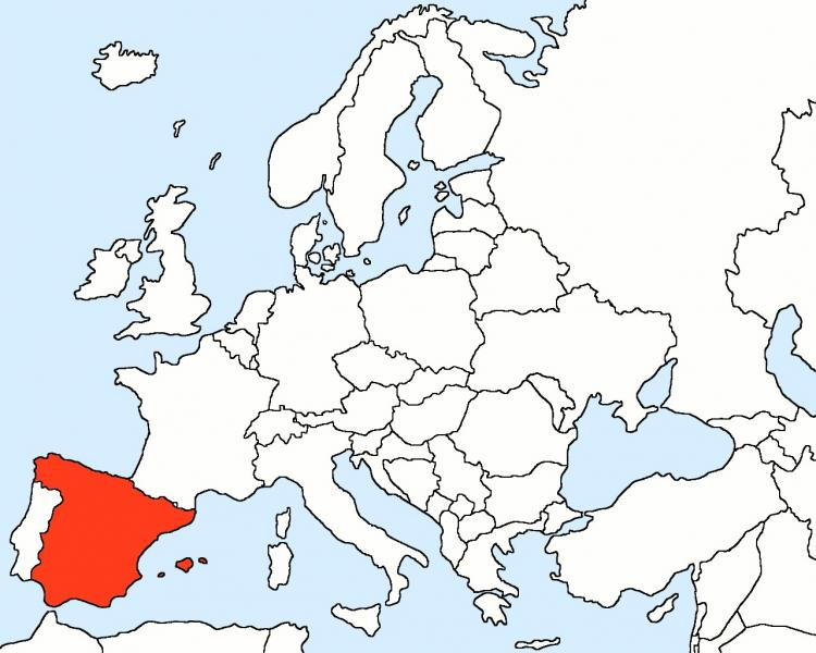 In Hispaniam map of Europe